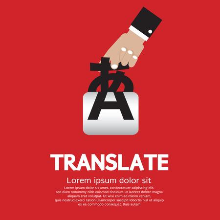 learning language: Translate Concept Vector Illustration