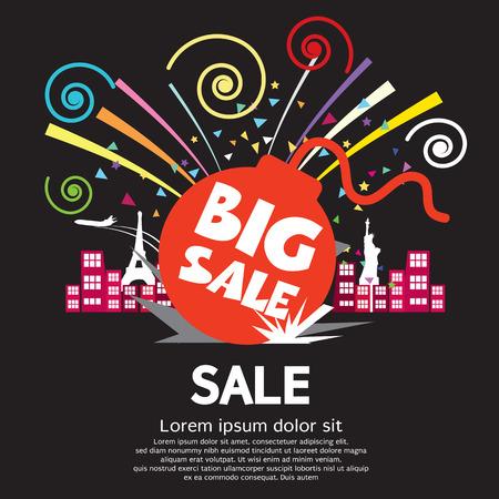 burning money: Big Sale Illustration