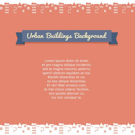 urban building: Urban Building Background Illustration