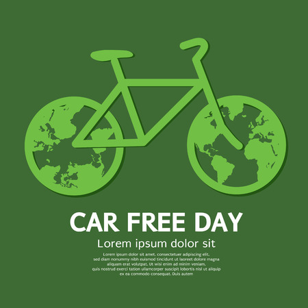 pollution free: Car Free Day Vector Illustration Illustration