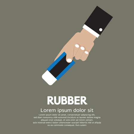 Rubber In Hand Illustration