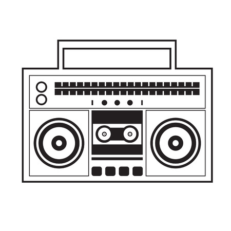 Ghetto Blaster Radio Vector Illustration Vector