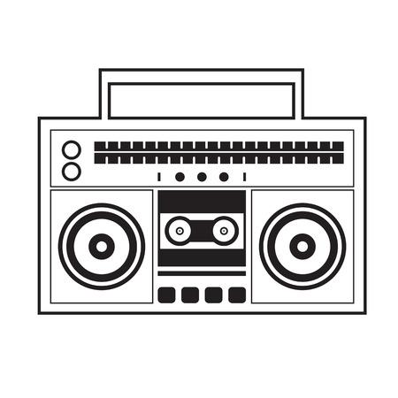 ghetto: Ghetto Blaster Radio Vector Illustration