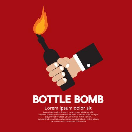 Bottle Bomb Illustration Vector