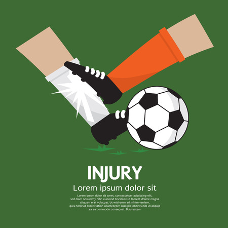the opponent: Football Player Make Injury To An Opponent Illustration