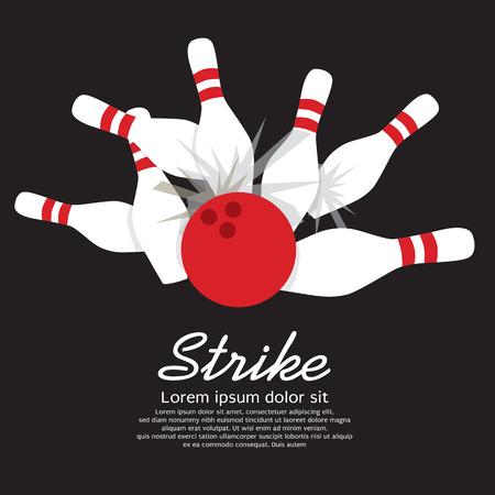 Bowling Strike  Ilustracja