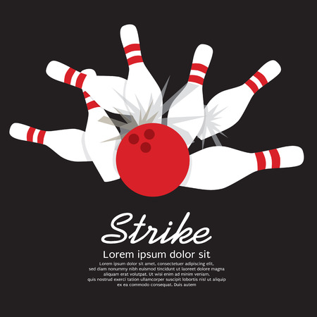 Bowling Strike  向量圖像