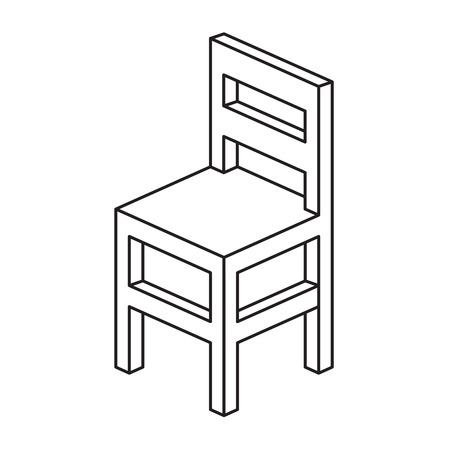 empty chair: Chair Outline  Illustration