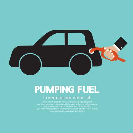 Pumping Fuel  Illustration