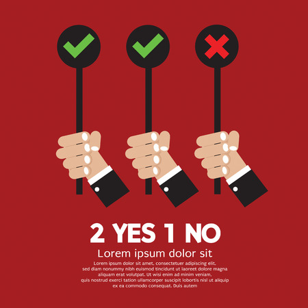 Yes And No  Illustration Vector