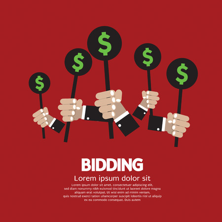 bidding: Bidding or Auction Concept Illustration