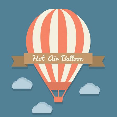 balloon vector: Hot Air Balloon Vector Illustration