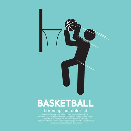 slam dunk: Basketball Vector Illustration