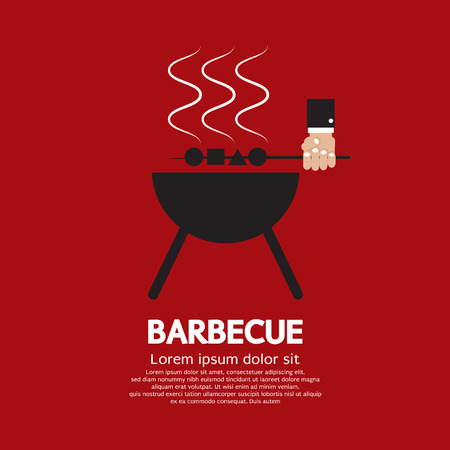 charcoal grill: Barbecue Vector Illustration Illustration