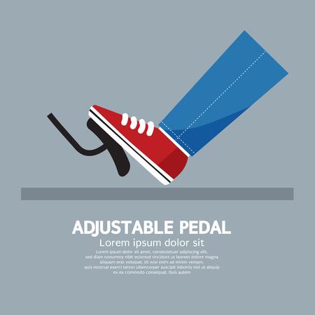 car brake: Adjustable Pedal Vector Illustration