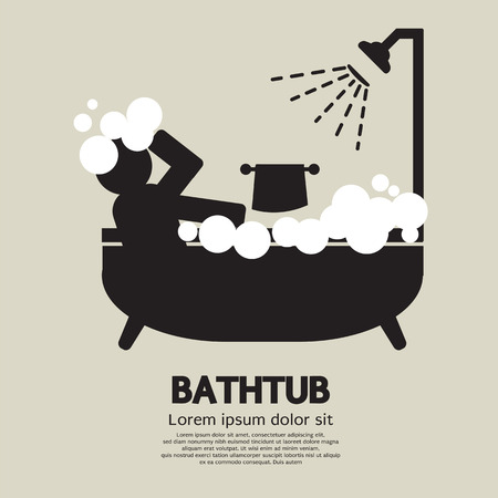 bath tub: Bathtub Vector Illustration