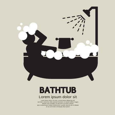 Illustrazione vettoriale Vasca da bagno