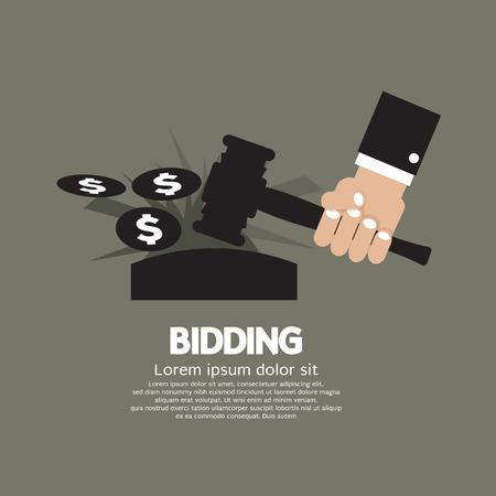 bidding: Bidding or Auction Concept Vector Illustration