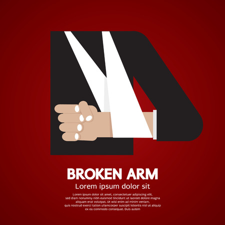 personal care: Broken Arm Vector Illustration
