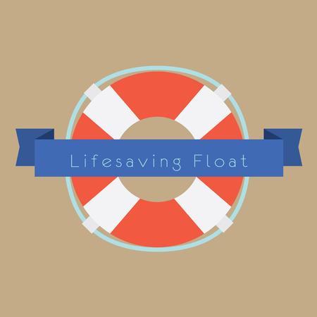 Life Saving Float Ring Vector Illustration Illustration