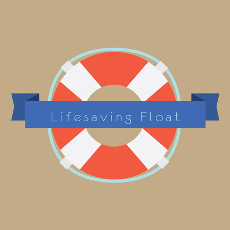 life support: Life Saving Float Ring Vector Illustration Illustration