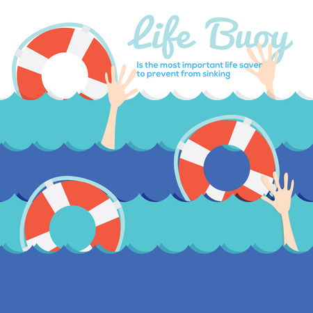 Life Buoy Vector Illustration Vector