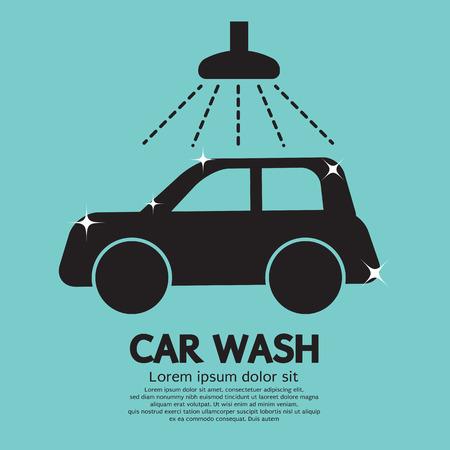 Car Wash Vector Illustration Vector