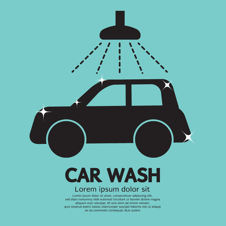 wash machine: Car Wash Vector Illustration Illustration