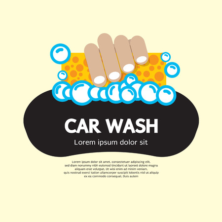 sponges: Car Wash Vector Illustration Illustration