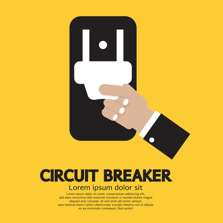 Circuit Breaker Vector Illustration