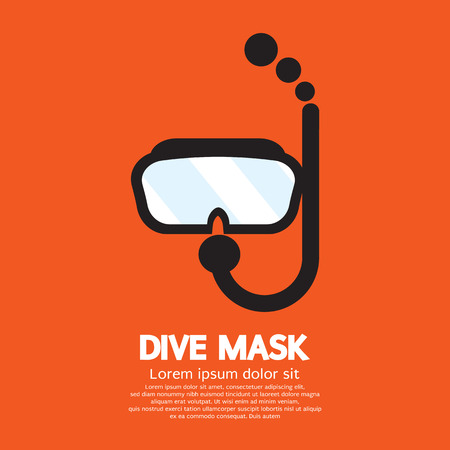 diving: Dive Mask Vector Illustration