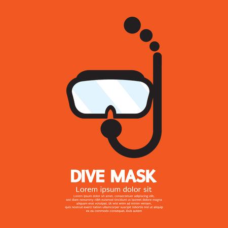 nurkować: Maska wektorowa ilustracja nurkowe
