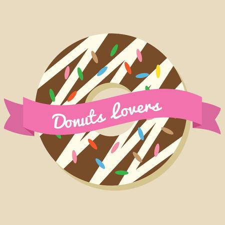 Donuts Lover Vector Illustration