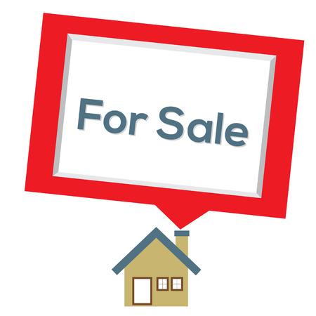 Home For Sale Vector Illustratie