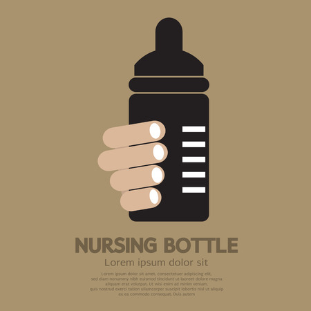 nursing bottle: Nursing Bottle Vector Illustration Illustration