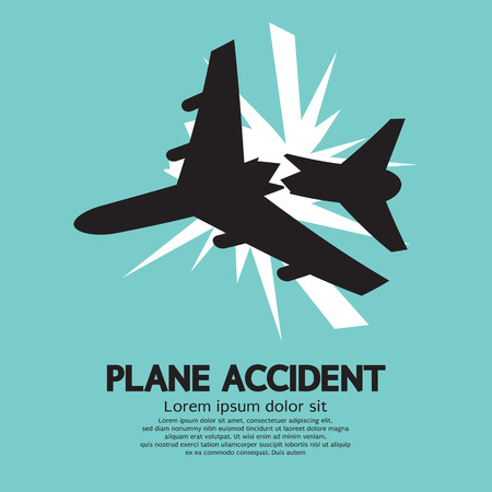Plane Accident Vector Illustration Vector