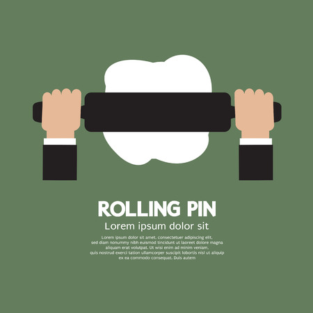 rolling: Rolling Pin Vector Illustration