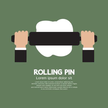 kneading: Rotolamento illustrazione vettoriale Pin Vettoriali