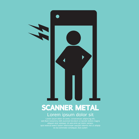Metal Scanner Gate Vector Illustration Vector