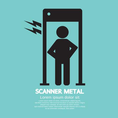quarantine: Metal Scanner Gate Vector Illustration Illustration