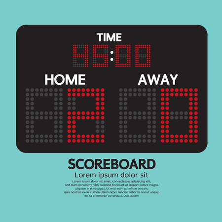 scoreboard: Scoreboard Sport Vector Illustration