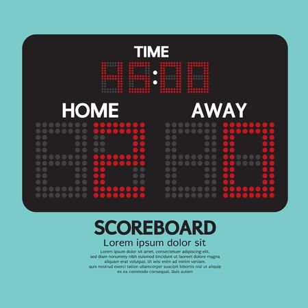 Scoreboard Sport Vector Illustration