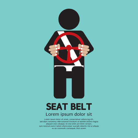safe lock: Seat Belt Vector Illustration