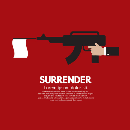 surrender: Surrender Vector Illustration
