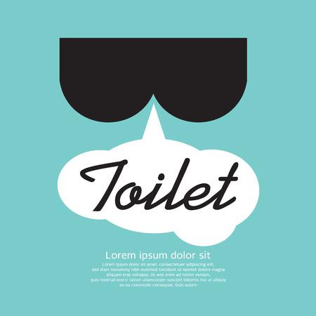 excrete: Toilet Sign  Illustration
