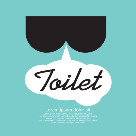 fart: Toilet Sign  Illustration