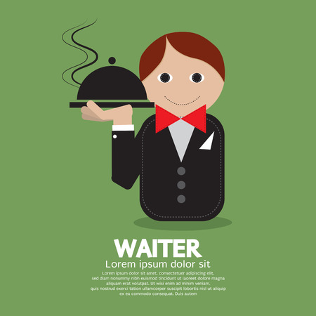Waiter Vector Illustration Vector