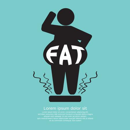 Fat Graphic Vector Illustration