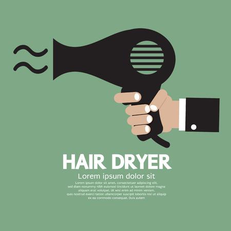 secador de pelo: Ilustración vectorial Secador de pelo Vectores
