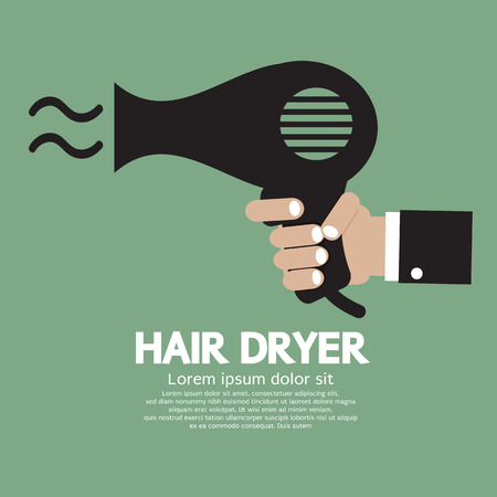 Hair Dryer Vector Illustration Illustration
